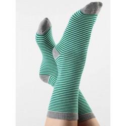 ALBERO Sokken grün/natur/grau