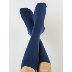 ALBERO Herren Socken dunkelblau