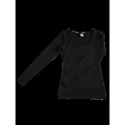 ALBERO Damen-Langarmshirt  black