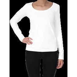 ALBERO Damen-Langarmshirt  off-white