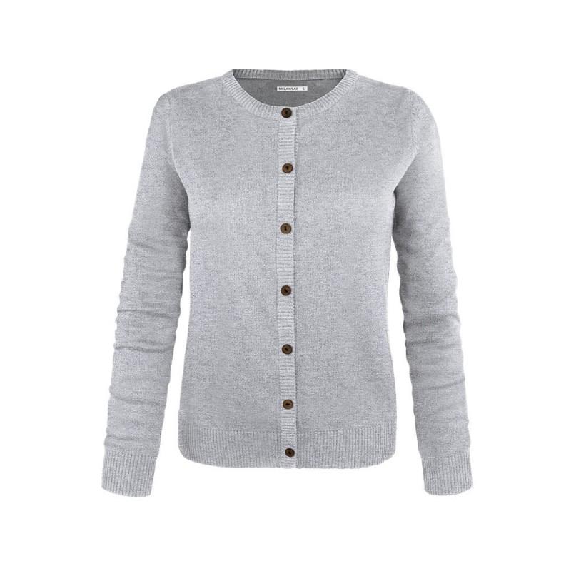 Melawear Woman's Cardigan Grey melange