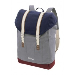 Melawear Backpack Mela V blue/grey/burgundy red