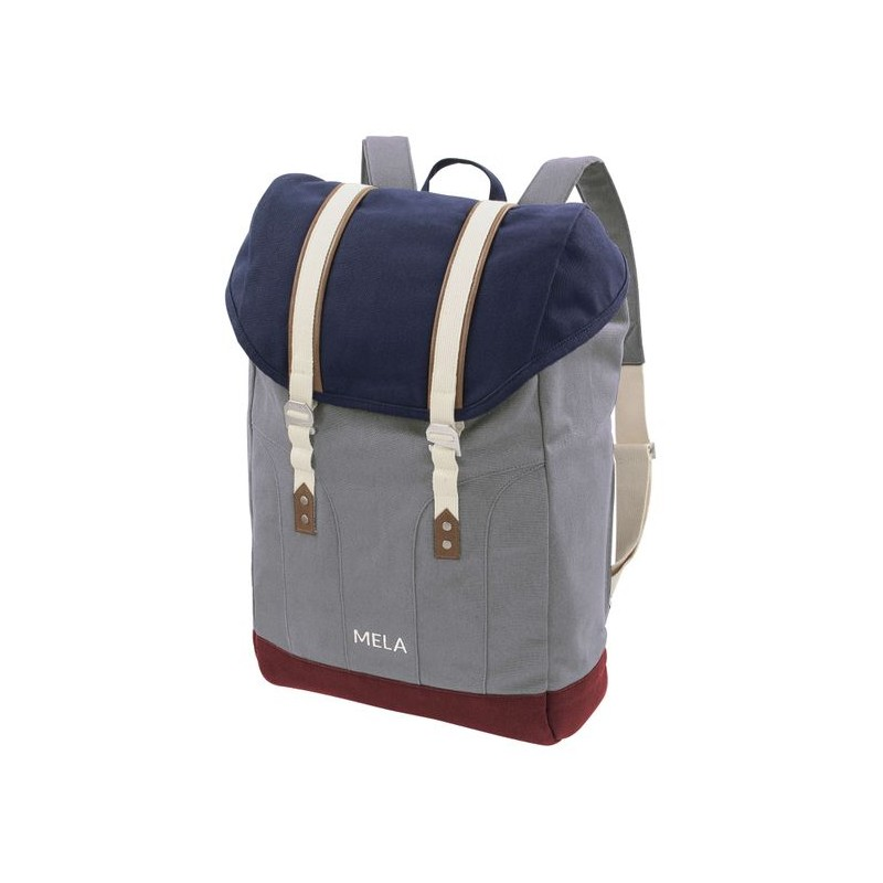 Melawear Backpack Mela V blue/grey/burgundy red