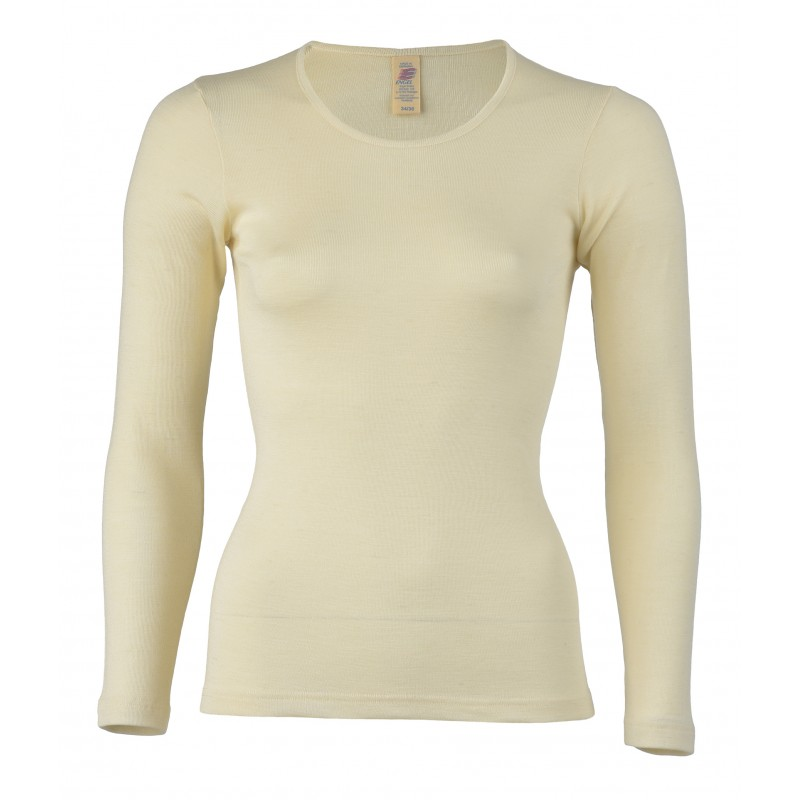 Engel Ladies' Shirt, Long Sleeved Natural