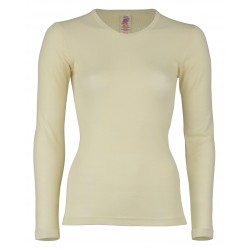 Engel Shirt Long Sleeved Unisex, fine rib natural