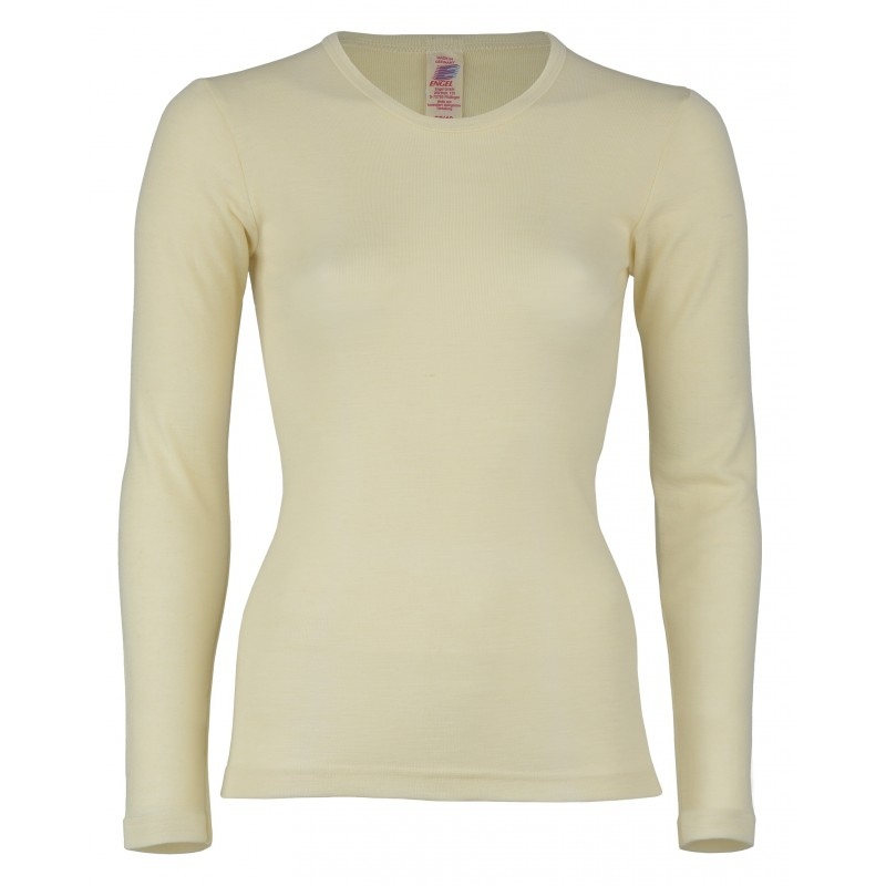 Engel Shirt Long Sleeved Unisex, fine rib natural