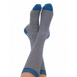 ALBERO Sokken dunkelblau-natur-denim