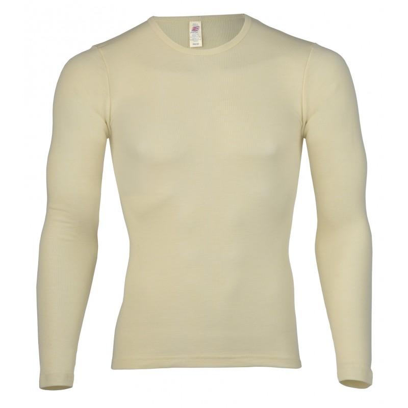 Engel Men's Shirt long sleeved, fine rib Natural