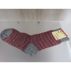 Hirsch Natur feine Jacquard Socke  mohn-grau