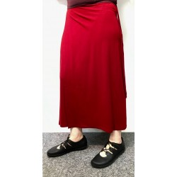 Bamboo Belgium Wrap Skirt Long Bordeaux