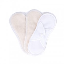 Bamboolik Cloth Menstrual Pad  /3 Wit