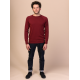 Melawear Men's Knit Pullover burgundy red