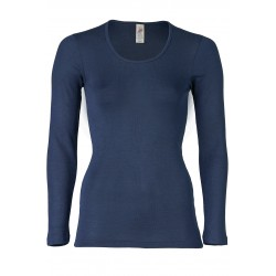Engel Ladies Shirt Long sleeved navy-blue