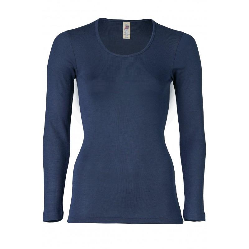 Engel Ladies Shirt Long sleeved navy-blue