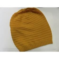 De Colores Mütze 100% Alpaka maisgelb