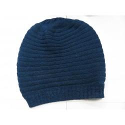 De Colores Mütze 100% Alpaka petrolblau melange