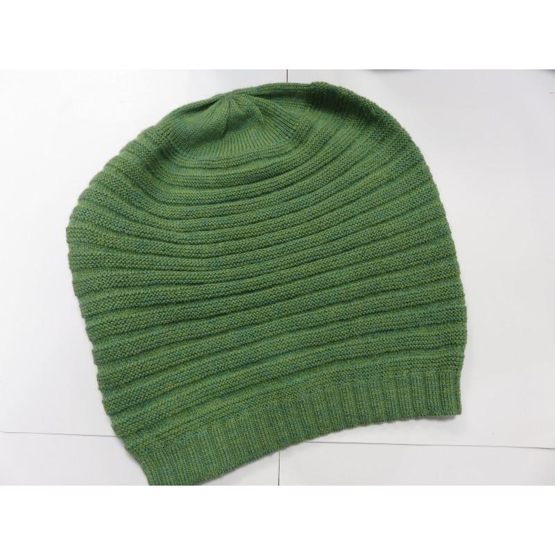 De Colores Mütze 100% Alpaka limette melange