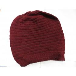 De Colores Mütze 100% Alpaka dunkelrot melange