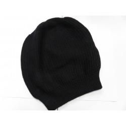 De Colores Mütze Linksstrick 100% Baby-Alpaca schwarz