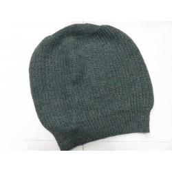 De Colores Mütze Linksstrick 100% Baby-Alpaka graugrün melange