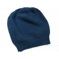 De Colores Mütze Linksstrick 100% Baby-Alpaca petrolblau