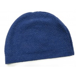 De Colores Mütze Struckturstrick 100% Baby-Alpaka königsblau