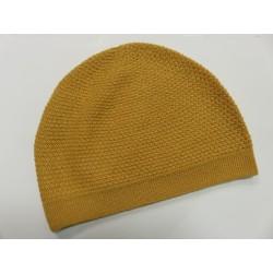 De Colores Mütze Struckturstrick 100% Baby-Alpaka maisgelb