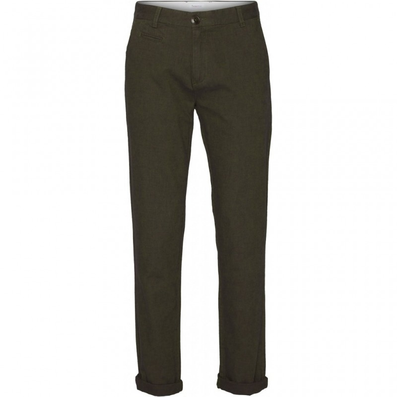 Knowledge Chuck Flannel Chino Forest Night lengte 34