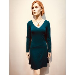 Up-Rise Party Dress Long Sleeve deep ocean