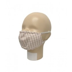 Popolini Mouth-Nose Mask Popeline Organic Karo Sand Rosé