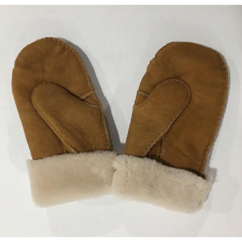 Naturfellparadise Merino lamsvel handschoenen handgenaaid