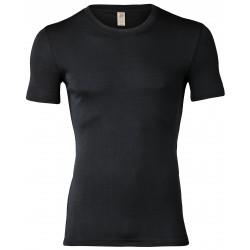 Engel Men's Shirt short sleeved, fine rib Black