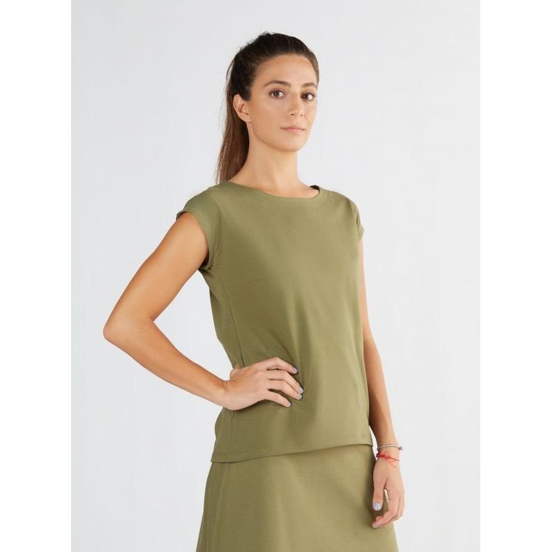 ALBERO Damenbluse oliv