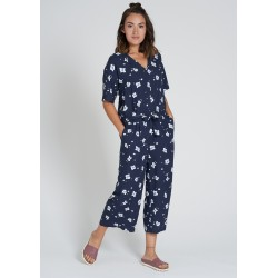 Recolution EcoVero Jumpsuit Flowers navy