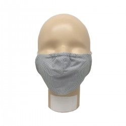 Popolini Mouth-Nose Mask Popeline Organic Fine Stripe Blue