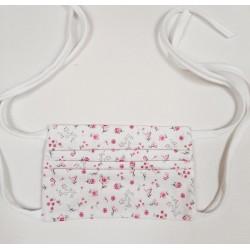 't Collectief Mondmasker bio touwtjes wit met roze bloempjes
