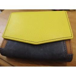 Soruka Portefeuille geel-blauw-bruin