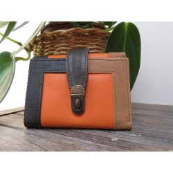 Soruka Portefeuille 'easy-lock' oranje-bruin