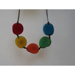 La Tagua Carmen  Necklace multicolor Tagua