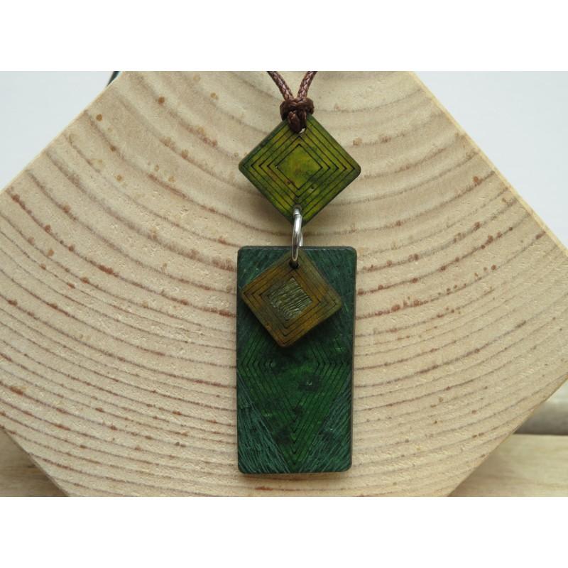 La Tagua Kogy Necklace groen Tagua