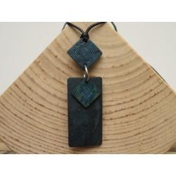 La Tagua Kogy Necklace blauw Tagua