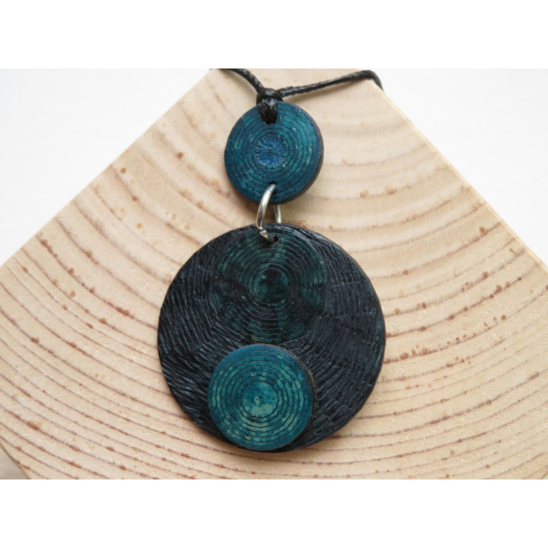 La Tagua Tayra Necklace blauw Tagua