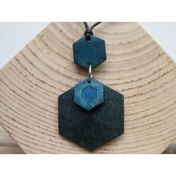 La Tagua Kana Necklace blauw Tagua