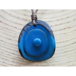 La Tagua Zaina Necklace turquoise Tagua