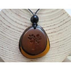 La Tagua Vivi Necklace geel-bruin-boom Tagua