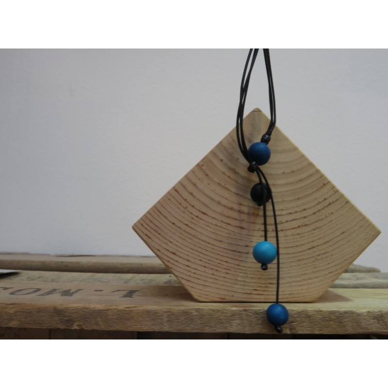 La Tagua Juani Necklace blauw
