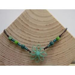 La Tagua Flor Necklace groen