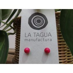 La Tagua Bopo Earrings  fuchsia