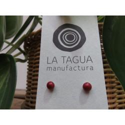 La Tagua Bopo Earrings bordeaux