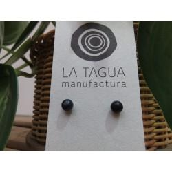 La Tagua Bopo Earrings donker blauw